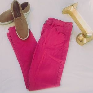 Bright PINK Skinny Jeans From AEO